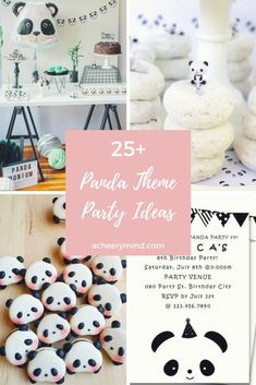 25+ Panda Theme Party Ideas | acheerymind.com