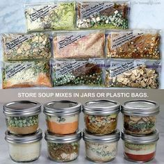 Dehydrated Backpacking Meals, Backpacking Food, Dehydrated Food, Hiking Food, Camping Meals, Dry Soup Mix, Soup Mixes, Mason Jar Meals, Meals In A Jar