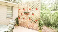Watch this video to find out how to build a privacy wall or fence in your backyard from pressure treated wood lattice. Lattice Wall, Lattice Screen, Privacy Walls, Privacy Screens, Outdoor Plants, Outdoor Decor, Privacy Screen Outdoor, Backyard Paradise, Brick Patios