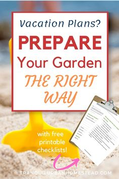 Are you going away on vacation soon? Are you worried that your garden won't survive? Learn simple tips and techniques to prepare your garden for vacation. #vacation #garden Organic Fertilizer, Organic Gardening, Gardening Tips, Container Plants, Container Gardening, Large Greenhouse, Garden Maintenance, Rainwater Harvesting, Garden Inspiration