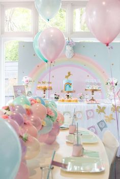 Unicorns Birthday Party Ideas | Photo 1 of 23