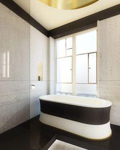 OUTTAKE - Hotel du Louvre bathroom design by Tristan Auer