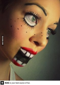 Awesome Doll make-up! <3 freaky