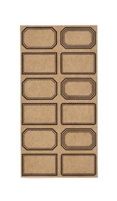 Etiquettes Mini Planches Kraft