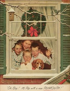 It's a Norman Rockwell Christmas! Merry Christmas Song, Merry Christmas And Happy New Year, Christmas Books, Vintage Christmas, Peintures Norman Rockwell, Norman Rockwell Art, Norman Rockwell Paintings, Norman Rockwell Christmas, Christmas Articles