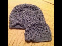 """Beanie Hat Crochet Pattern """"Lila"""" Puff Stitch all the sizes (Part 1) all sizes AUDIO in English - YouTube"""
