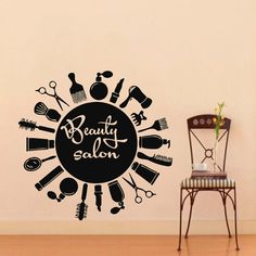 Wall Decal Vinyl Sticker Beauty Hairdress Salon by VinylDecals2U