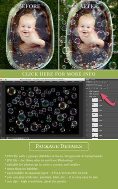 Soap bubbles photo overlay - photoshop Elements friendly. #photooverlays…