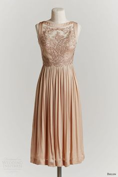 bhldn spring 2015 alma sleeveless colored dress copper lace