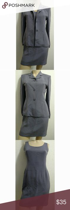 2 piece petite work dress suit This business dress is a timeless ensemble which includes a dress and classic double-breated jacket for a well pulled-together ... Jones New York Dresses