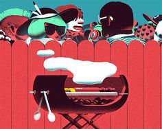 Awesome selection of work by French illustrator Nicolas Dehghani.  More illustrations via Behance