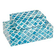 2 Piece Potala Nesting Box Set in Turquoise