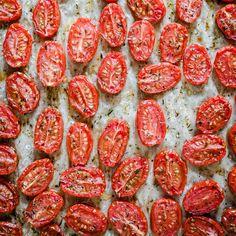 Nigella Lawson, Oven Roasted Tomatoes, Linguine, Food 52, Risotto, Tapas, Garlic, Dinner Recipes, Lemon