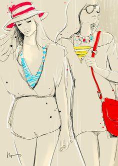 Floyd Grey : Illustrations Vectorielles de Mode