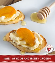 all year round. Top crostini with Creamy Light Swiss, an apricot ...
