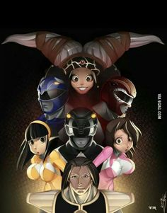 Mighty Morphin Power Rangers Anime style