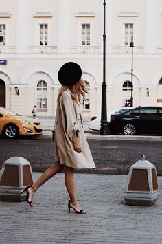 Beret and trench coat