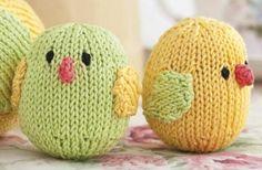 Easter chicks knitti