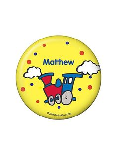Train Party Personalized Button