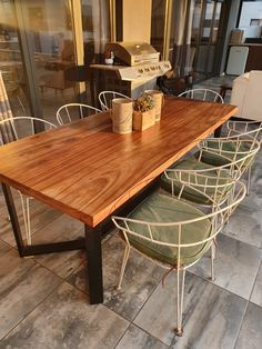V design outdoor kiaat all brown dining table Dining Tables, Outdoor Tables, Outdoor Decor, Outdoor Furniture, Rustic, Brown, Design, Home Decor, Kitchen Dining Tables