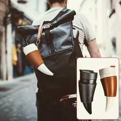 Ram's Horn Insulated Mug Coffee Cups Drinking Bottle Travel Thermoses Stainless Viking Horn, Thermal Mug, Insulated Mugs, Stainless Steel Thermos, Water Containers, Vacuum Flask, Thermal Insulation, Wish Shopping, Coffee Cups
