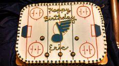 St Louis Blues hockey cake