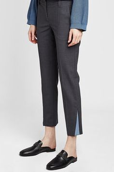 BRUNELLO CUCINELLI - Tailored Pants with Wool | STYLEBOP Grey Style, Grey Fashion, Brunello Cucinelli, Wool, Pants, Shopping, Clothing, Trouser Pants, Trousers