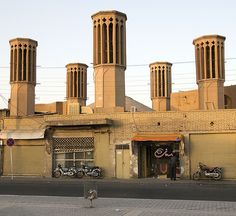 Badgirs near Amir Chakhmaq, Yazd by ValleyNinja, via Flickr