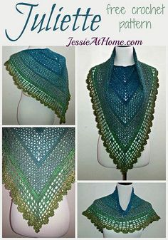 Juliette Shawl ~ Free Crochet Pattern by Jessie At Home