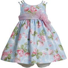 *BABY NEWBORN 3M-9M DRESS* Blue Pink Triple Strap Rose Floral Print Shantung Dress BL0SA, Blue, Bonnie Jean Baby-Newborn 3M-9M Bonnie Jean,http://www.amazon.com/dp/B00IGAJ6OM/ref=cm_sw_r_pi_dp_Zz5.sb095M8NSWCV