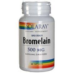 Bromelain de Solaray es un suplemento que aporta enzimas que ayudan a la digestión. Bromelain se utiliza en procesos inflamatorios y lesiones de tejidos blandos.