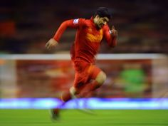 Luis Suarez in full flow at Anfield #LFC