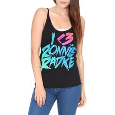 Falling In Reverse I (Heart) Ronnie Girls Tank Top | Hot Topic ($7.98) ❤ liked on Polyvore featuring shirts
