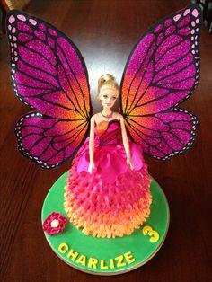 Barbie fairy Mariposa princess birthday cake by Stylishly Sweet www.stylishlysweet.com.au