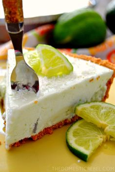 This Margarita Cheesecake Pie is a no-bake wonder! It comes together ...