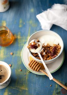 Healthier Granola with egg white, special adds include olive oil, sesame seeds