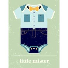Oopsy Daisy - Little Mister Canvas Wall Art 10x14, Vision City