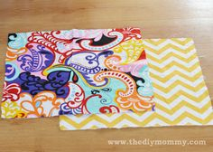 Sew Throw Pillow Covers... the easy way from www.thediymommy.com