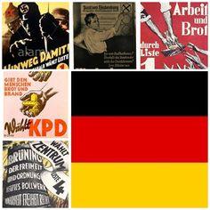 Collage de propaganda electoral en la República de Weimar (I)