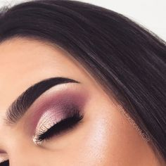 Pink Semi Cut Crease Makeup Tutorial using the Modern Renaissance Palette from Anastasia Beverly Hills by Alexis Kaymo