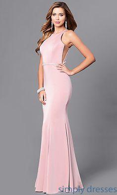 f561a0a7bd9ba Mermaid Long Prom Dress with Jeweled Waistline. Evening Dresses For ...