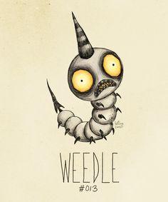 Tim Burton Pokemon-Weedle #Gamer #Burton #Pokemon