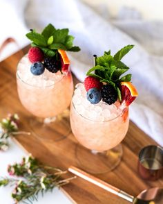 Lillet Rosé Cobbler, a rosé cocktail full of berries and other fresh ingredients.