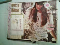 The Painted Flower: art journal- collage pages