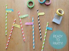DIY Washi Tape Strawshttp://www.ivillage.com/diy-washi-tape-crafts/7-a-544244