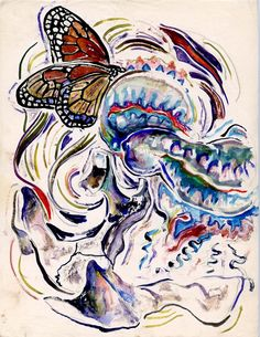 Walter Inglis Anderson A butterfly says hello to the world