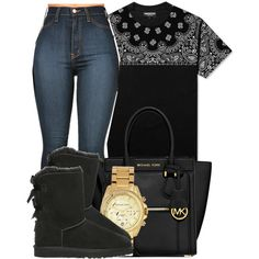 First I'll acknowledge our trust has been broken.A successful recovery, I pray for us at night.Blessed me with a second chance.Never thought I'd see your face again. by bria-queen-ovoxo on Polyvore featuring polyvore, fashion, style, UGG Australia, MICHAEL Michael Kors and Michael Kors