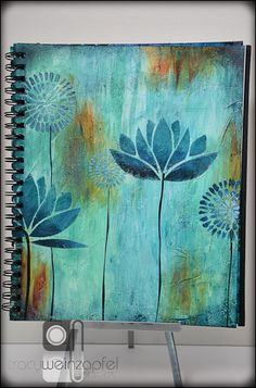 Part 3 of my Canson 9 X 12 Repositionable Art Journal Series this week! I hope you caught Part 1 and Part 2. Special thanks goes to Canson and DecoArt Media for helping me bring my art to LIFE. Back to my beloved flowers…… In the …