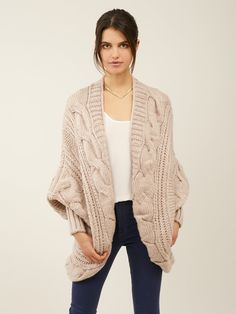 Knit Cocoon Cardigan by ZOA at Gilt