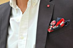 A pocket square doesn't have to be...square. #ModernMan